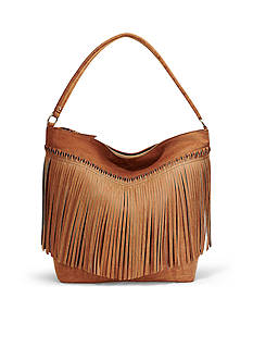 STEVEN Fringe Hobo Bag
