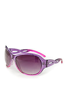 Red Camel Plastic Rectangle Purple Pink Sunglasses