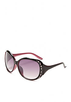 Red Camel Rounded Square Bling Sunglasses