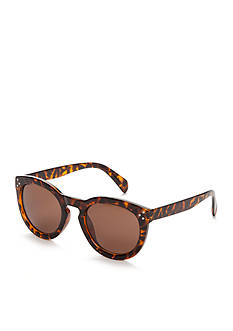 Red Camel Round Tortoise Sunglasses