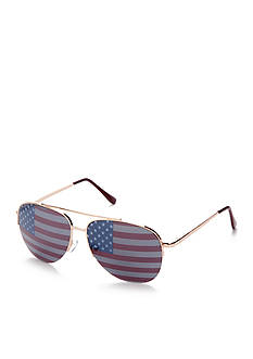 Red Camel American Flag Aviator Sunglasses