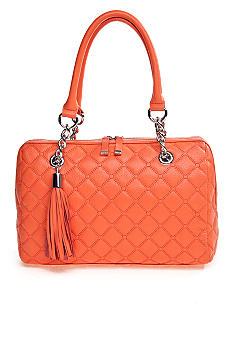 Calvin Klein Geneva Quilted Leather Satchel