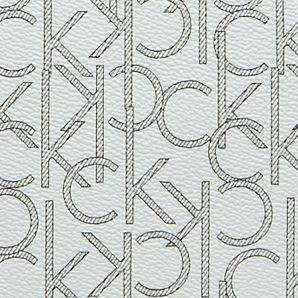 Designer Calvin Klein Purses: Cream/Khaki Calvin Klein Key Item Monogram Tote