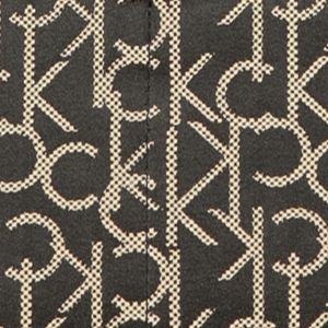 Women: Calvin Klein Accessories: Black/Beige Calvin Klein Teadora Tote