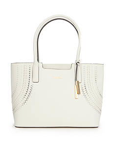 Calvin Klein Leather Key Items Tote