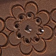 Juniors Accessories: Brown New Directions Floral Embossed Belt
