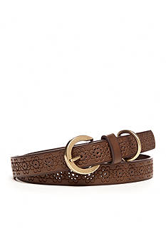 New Directions Floral Embossed Belt