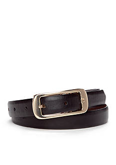 New Directions Skinny Centerbar Buckle Reversible Belt