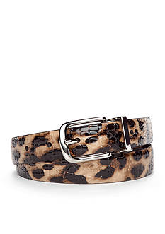 New Directions Leopard Reversible Belt