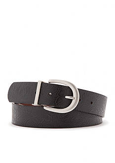 New Directions Reversible Embossed Contrast Stitch Belt