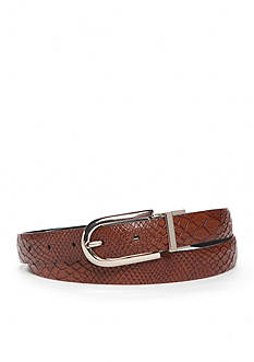 New Directions Reversible Faux Snake Skin Belt