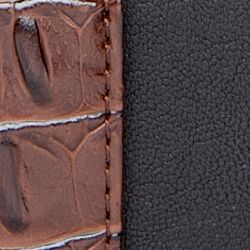 Wallets: Black/Brown New Directions Zip Around Hornback Wallet