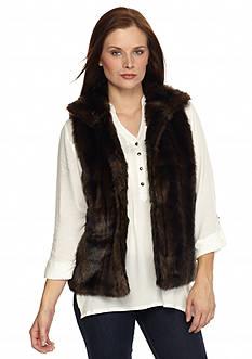 New Directions Faux Fur Vest