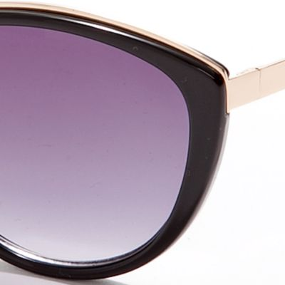 Cat Eye Sunglasses: Black Vince Camuto Plastic Cat Eye Sunglasses