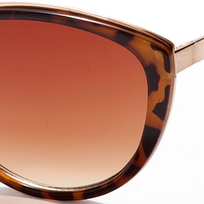 Womens Sunglasses: Tortoise Vince Camuto Plastic Cat Eye Sunglasses