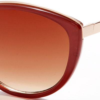 Womens Sunglasses: Mauve Vince Camuto Plastic Cat Eye Sunglasses