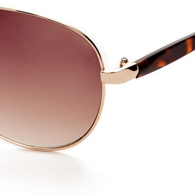 Handbags & Accessories: Vince Camuto Accessories: Tortoise Vince Camuto Flash Lens Aviator Sunglasses