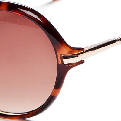 Fashion Sunglasses: Tortoise Vince Camuto Oval Glam Sunglasses