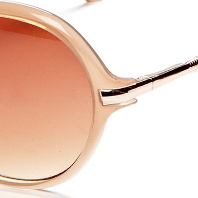 Handbags & Accessories: Vince Camuto Designer Sunglasses: Natural Vince Camuto Oval Glam Sunglasses