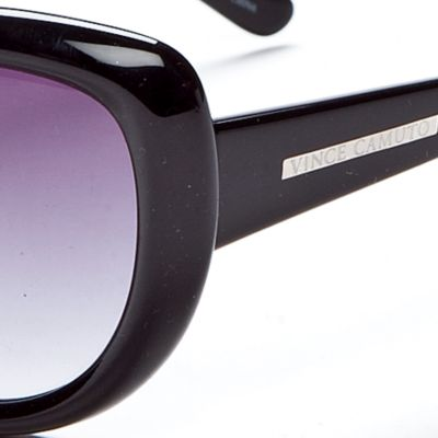 Cat Eye Sunglasses: Black Vince Camuto Classic Plastic Cat Eye Sunglasses