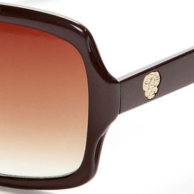 Handbags & Accessories: Vince Camuto Accessories: Brown Vince Camuto Plastic Glam Sunglasses