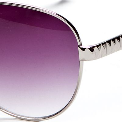 Handbags & Accessories: Vince Camuto Designer Sunglasses: Silver Vince Camuto Etch Detail Classic Aviator Sunglasses