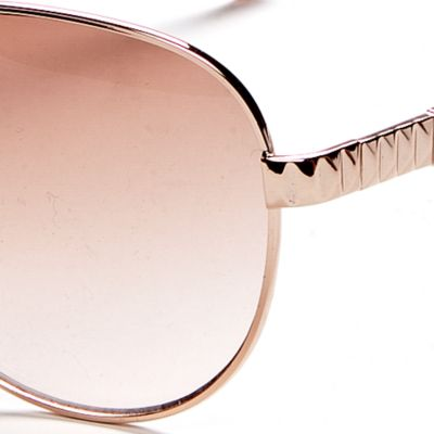 Handbags & Accessories: Vince Camuto Accessories: Rose Gold Vince Camuto Etch Detail Classic Aviator Sunglasses