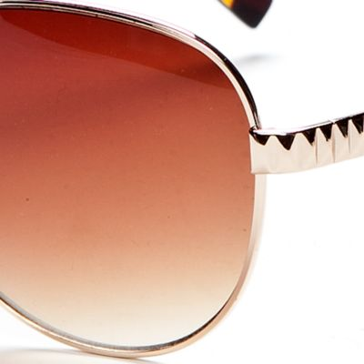 Handbags & Accessories: Vince Camuto Designer Sunglasses: Gold Vince Camuto Etch Detail Classic Aviator Sunglasses