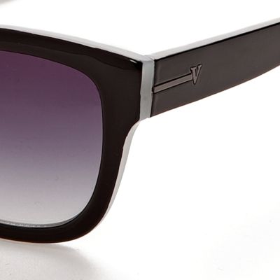 Wayfarer Sunglasses: Black/Grey Vince Camuto Surf Sunglasses
