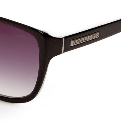 Handbags & Accessories: Vince Camuto Designer Sunglasses: Black/White Vince Camuto Plastic Retro Cat Eye Sunglasses