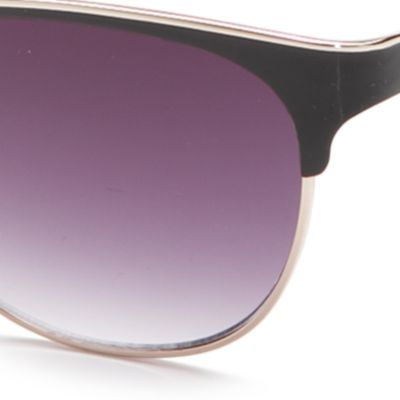 Handbags & Accessories: Vince Camuto Accessories: Gold Black Vince Camuto Oval Retro Metal Sunglasses