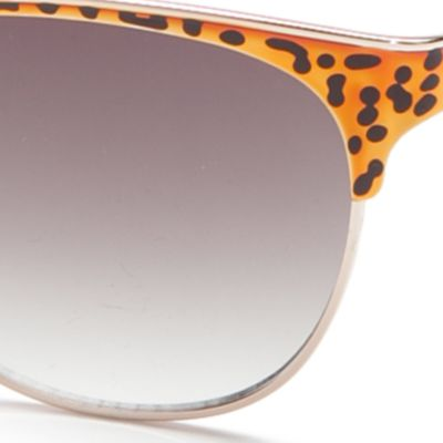 Handbags & Accessories: Vince Camuto Accessories: Gold Leopard Vince Camuto Oval Retro Metal Sunglasses