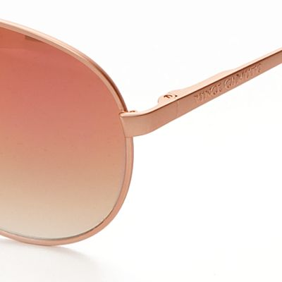Womens Sunglasses: Rose Gold Vince Camuto Mirror Aviator Sunglasses