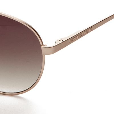 Womens Sunglasses: Gold Vince Camuto Mirror Aviator Sunglasses