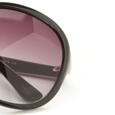 Womens Sunglasses: Black Vince Camuto Oversized Plastic Glam Sunglasses