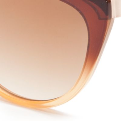 Cat Eye Sunglasses: Brown Vince Camuto Ombre Cat Eye Sunglasses