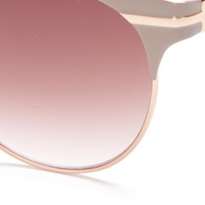 Handbags & Accessories: Vince Camuto Accessories: Nude / Rose Gold Vince Camuto Retro Oval Sunglasses