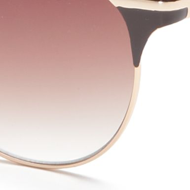 Handbags & Accessories: Vince Camuto Accessories: Gold Vince Camuto Retro Oval Sunglasses