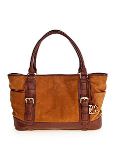 Via Neroli Piper Tote in Camel Suede