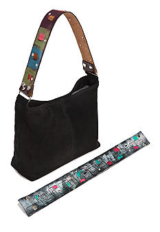 Katie Kalsi Suede Sadie Interchangeable Strap Shoulder Bag