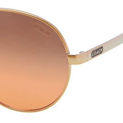 Womens Sunglasses: Orange Gradient COACH Elaina Sunglasses