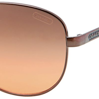 Coach: Orange Gradient COACH AVIATOR SUNGLASSES