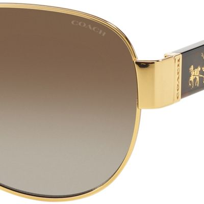 Handbags & Accessories: Coach Accessories: Dark Tortise COACH Horse and Carriage Aviator Sunglasses