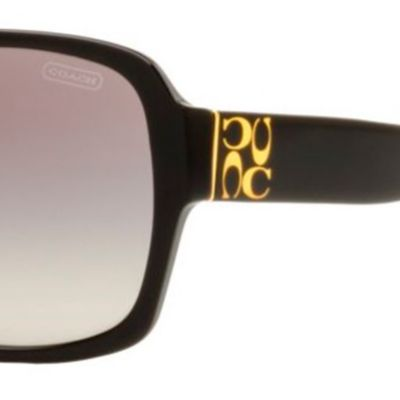 Discount Designer Sunglasses: Black COACH Megan Sunglasses