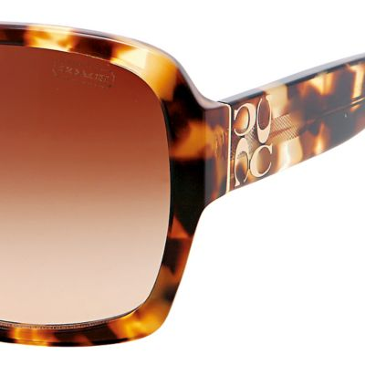 Coach: Spotty Tortoise COACH Megan Sunglasses
