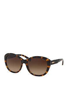 COACH CATEYE BRAIDED TEMPLE SUNGLASSES