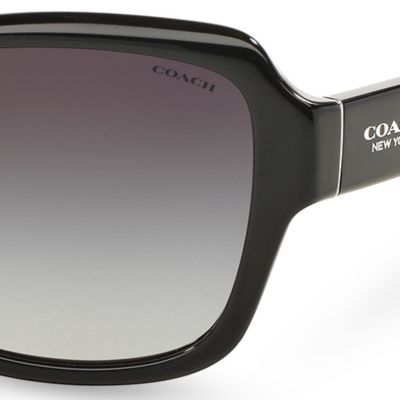 Womens Sunglasses: Black COACH Core Legacy Sunglasses