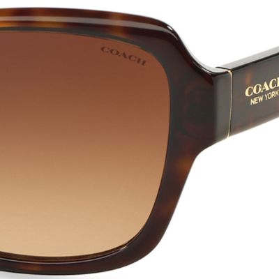 Womens Sunglasses: Dark Tortoise COACH Core Legacy Sunglasses