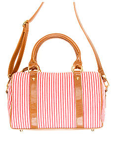 New Directions Charlie Striped Satchel