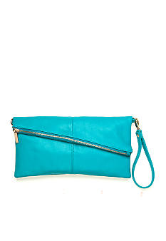 New Directions Bias Zip Clutch